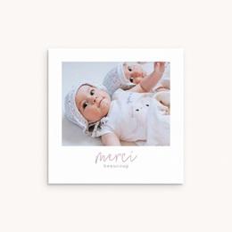 Carte de Remerciement Naissance Jumelles, Typo, 10 x 10