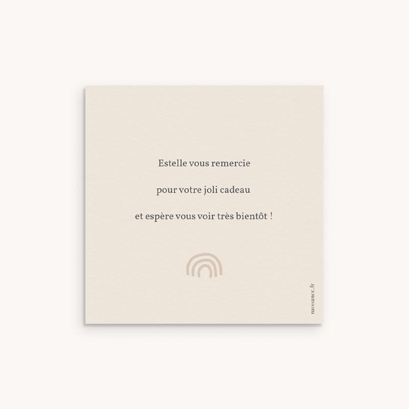 Carte de Remerciement Naissance Lettres d'Amour, Céleste, 10 x 10 pas cher