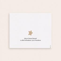 Carte de Remerciement Naissance Trio magique, dorure, Pli-décalé