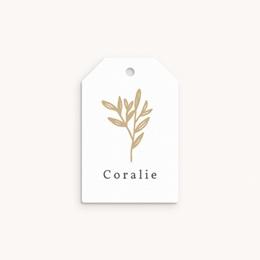 Etiquettes Cadeau Naissance Brin Dorure, Souvenir