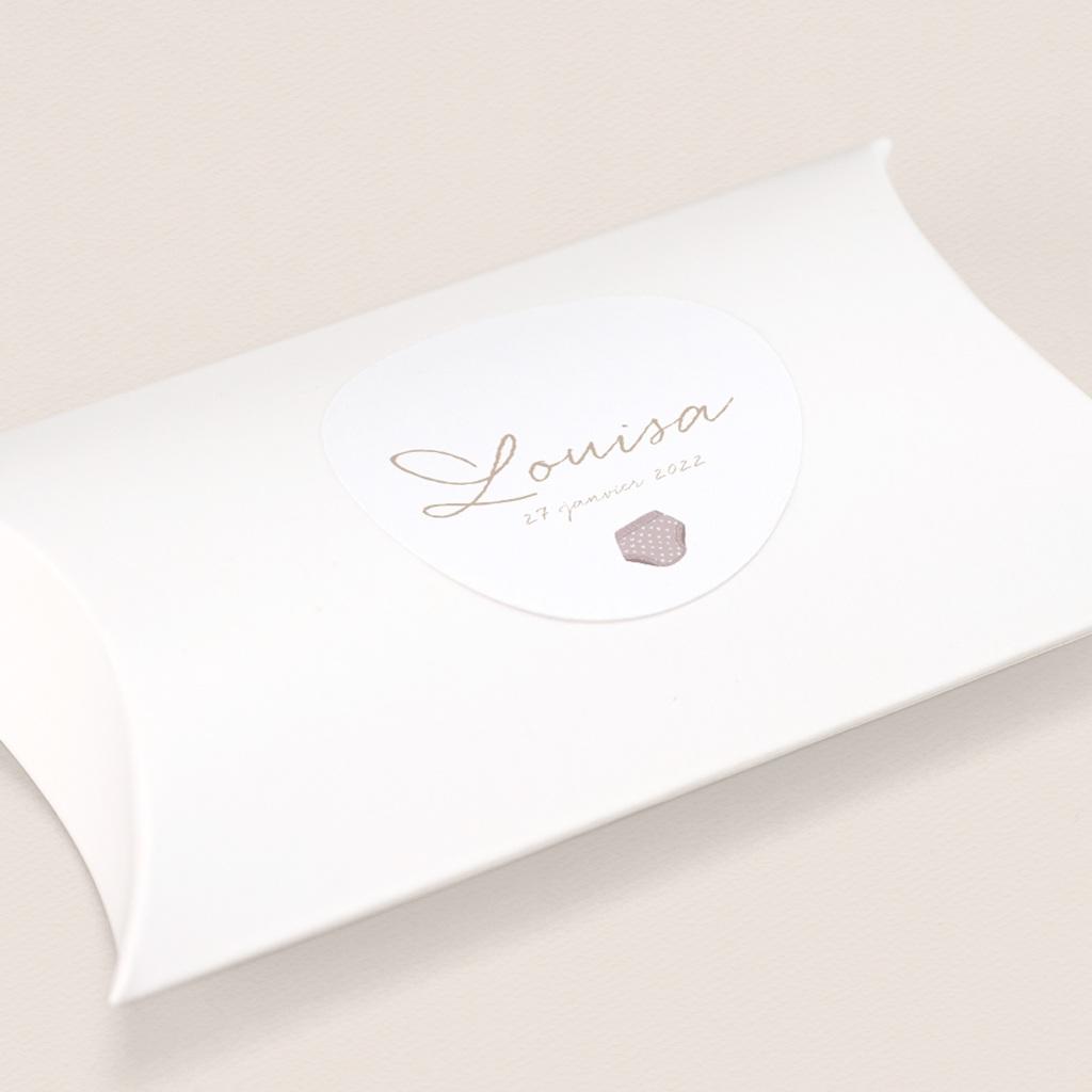 Sticker Enveloppe Naissance Fil à linge fille, 4,5 cm