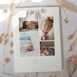 Affiche Déco Chambre Enfant Fil à linge fille, 30 x 40 cm gratuit