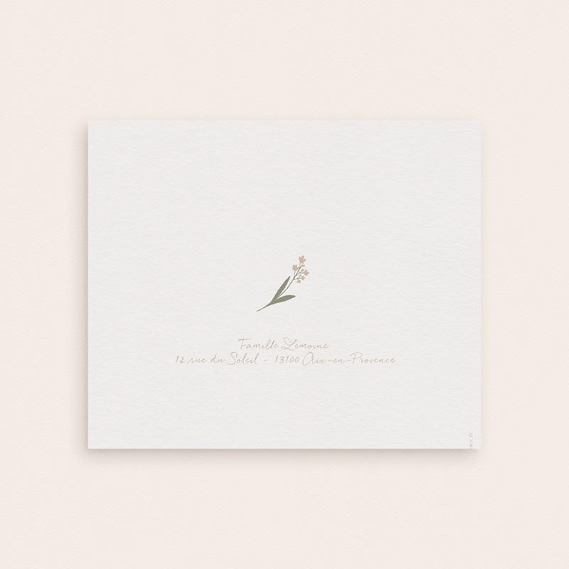 Nouveautés Carte de Remerciement Naissance Fil à linge fille, Pli-décalé