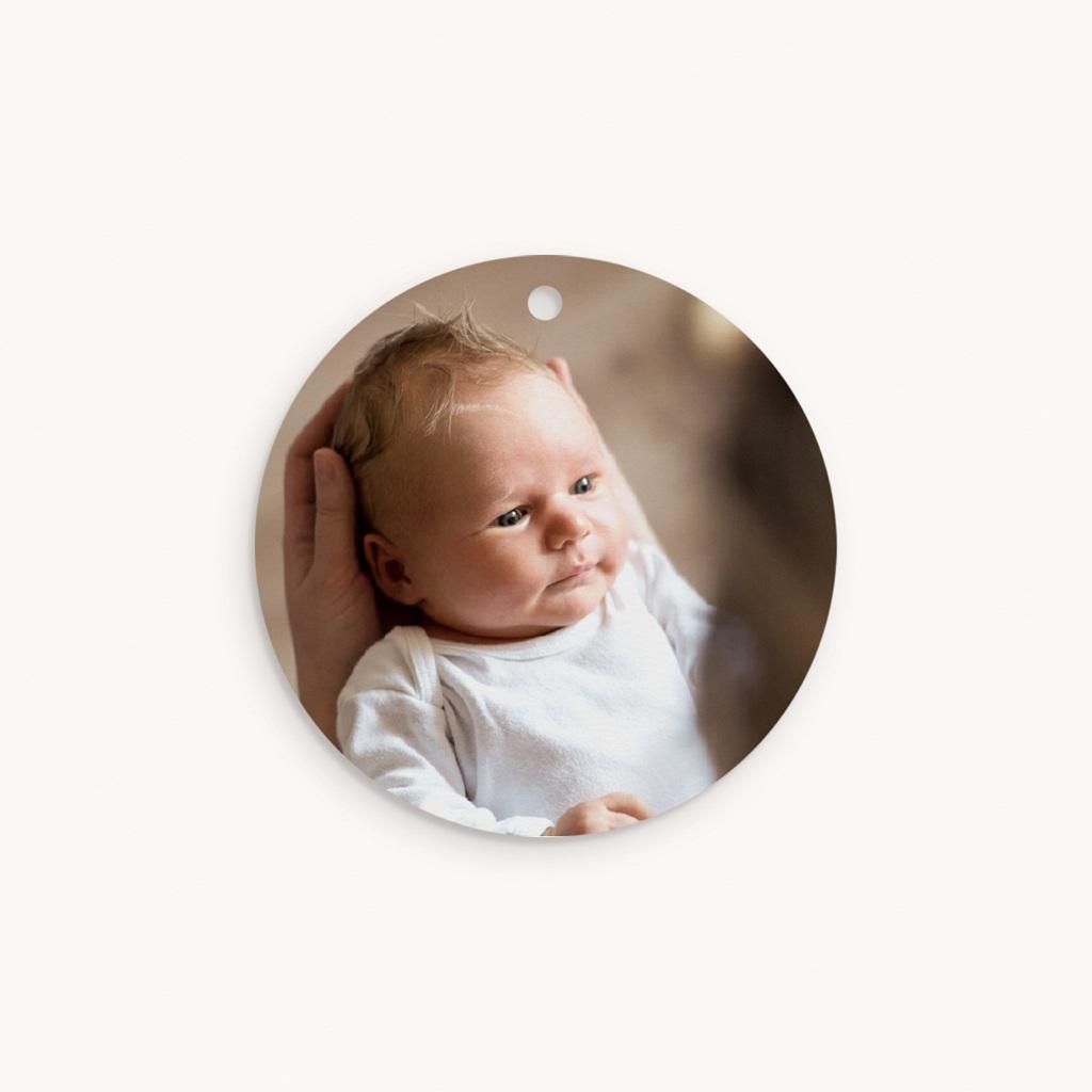 Etiquettes Cadeau Naissance Coeur minimaliste, Photo & Dorure pas cher