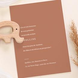 Faire-part de Naissance Etoile minimaliste, Terracotta & Dorure