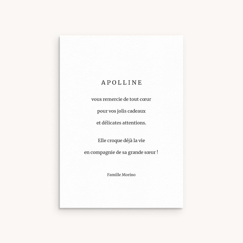 Carte de Remerciement Naissance Etoile minimaliste, Dorure, 10 x 14 cm pas cher