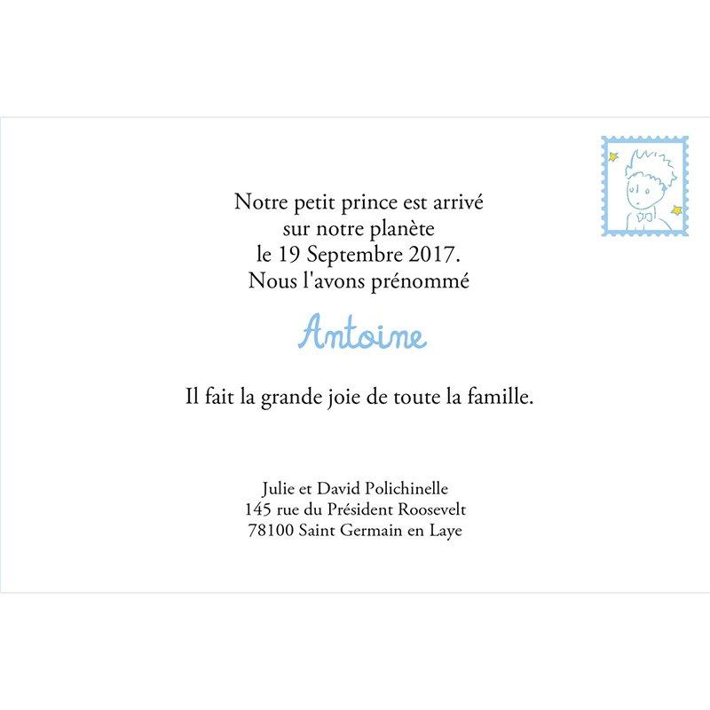 Faire-part de Naissance Le Petit Prince 1 gratuit