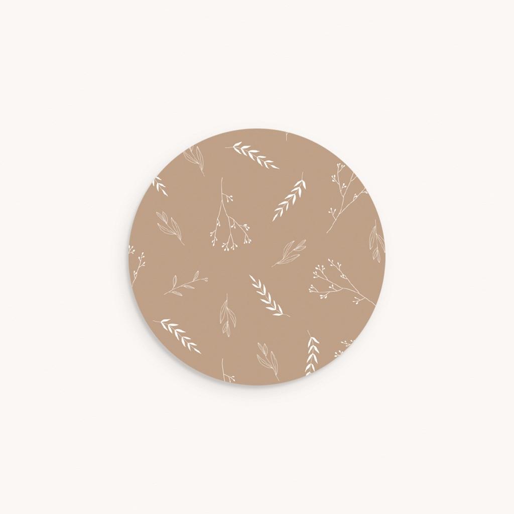 Sticker Enveloppe Baptême Champêtre Sable, Correspondance
