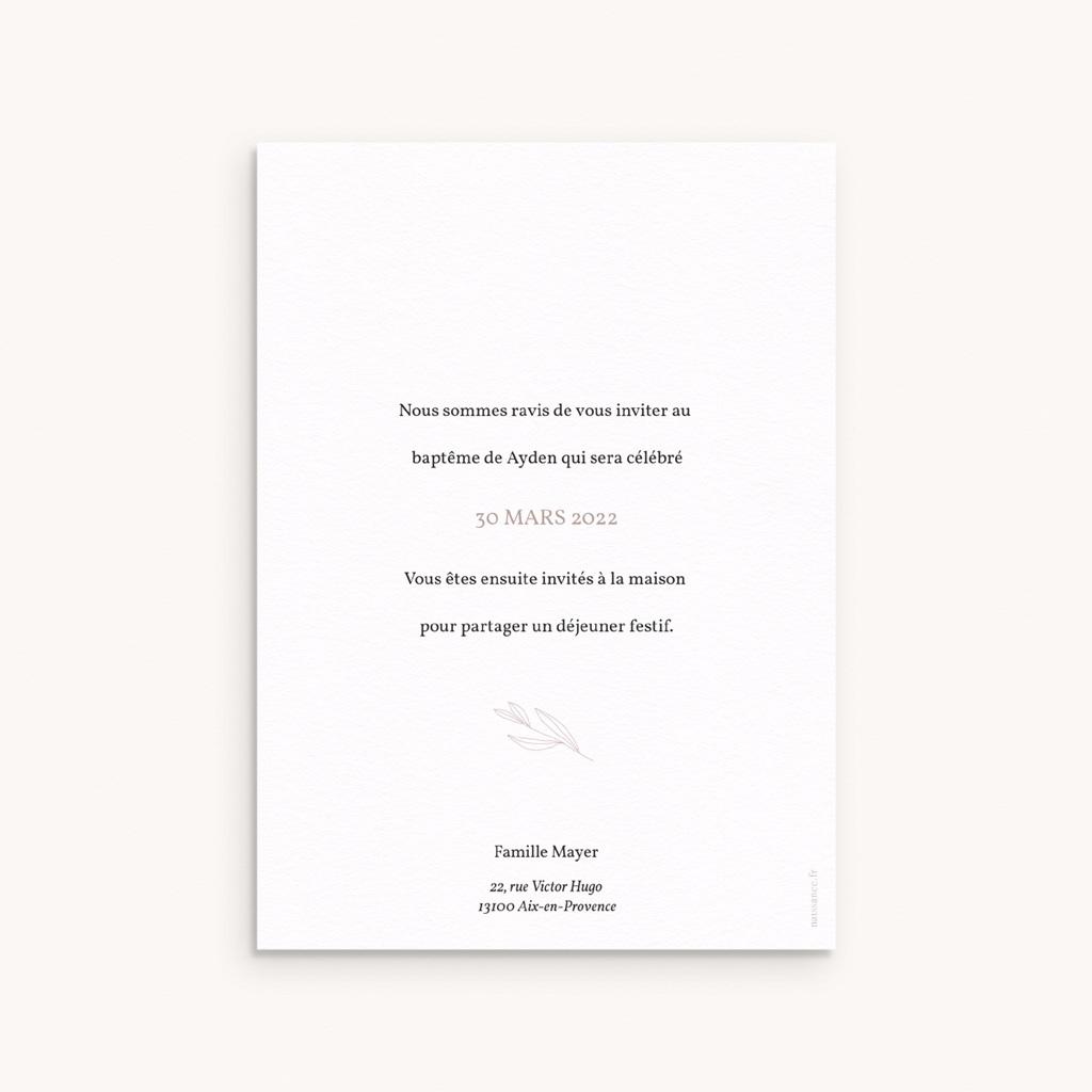 Faire-part de Baptême Champêtre Nude, 12 x 16,7 cm pas cher