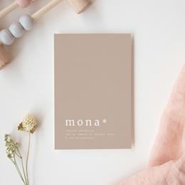 Faire-part de Naissance Mona Nude, 10 x 15 cm gratuit