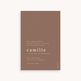 Faire-part de Naissance Camille Choco, 10 x 15 cm pas cher