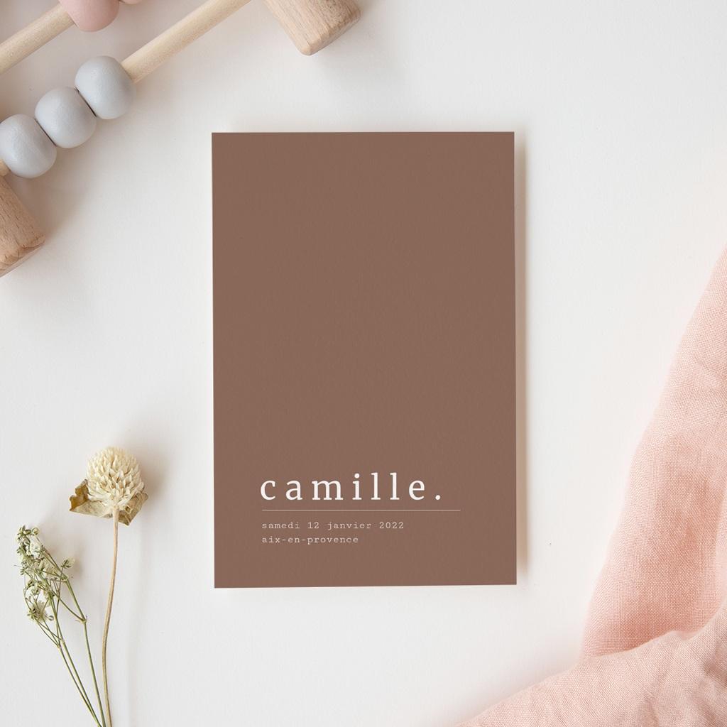 Faire-part de Naissance Camille Choco, 10 x 15 cm gratuit