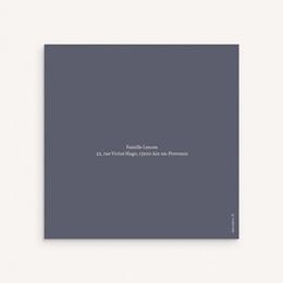 Faire-part de Baptême Hymne à la nature, bleu, 2 volets