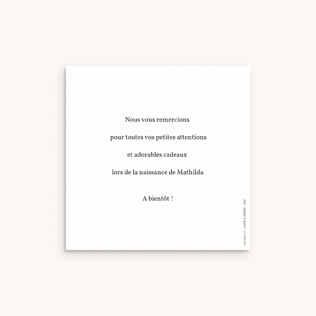 Carte de Remerciement Naissance Protégeons l'environnement, 10 x 10 pas cher