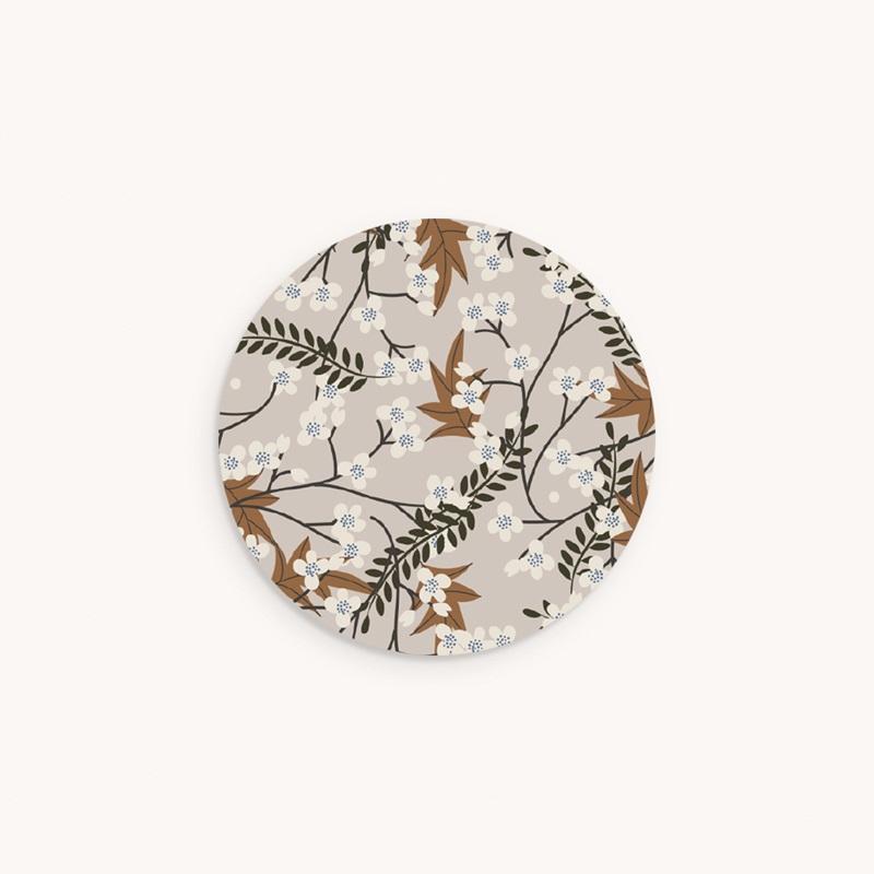 Sticker Enveloppe Baptême Floraison Cerisier, 4,5 cm