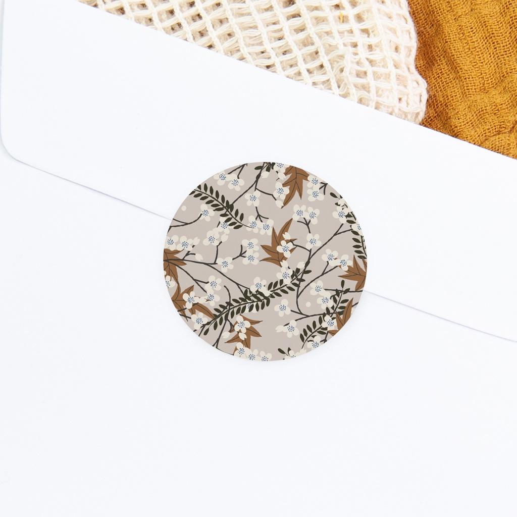Sticker Enveloppe Baptême Floraison Cerisier, 4,5 cm gratuit