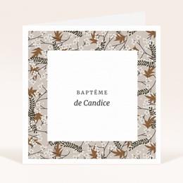 Faire-part de Baptême Floraison Cerisier, 14 x 14 cm