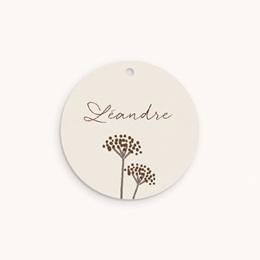 Etiquettes Cadeau Naissance Annneau Lapin, Souvenir