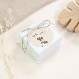 Etiquettes Cadeau Naissance Annneau Lapin, Souvenir gratuit