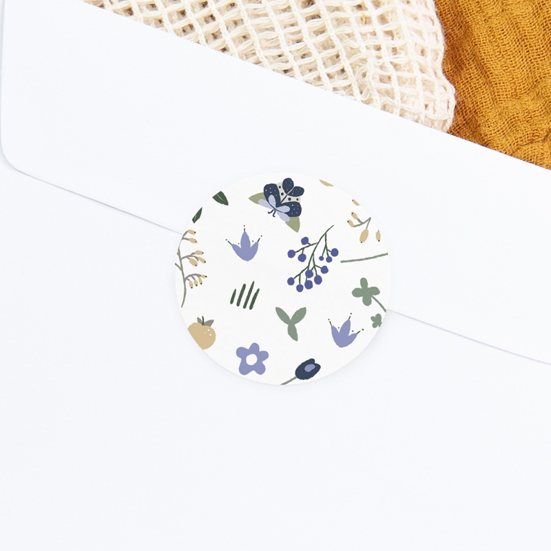 Sticker Enveloppe Naissance Double Floraison, 4,5 cm gratuit