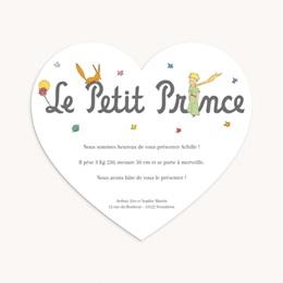 Faire-part de Naissance Un coeur de Petit Prince