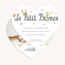 Faire-part de Naissance Un coeur de Petit Prince gratuit
