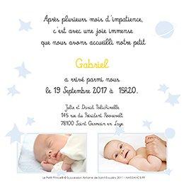 Faire-part de Naissance Le Petit Prince 7 gratuit