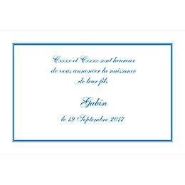 Faire-part de Naissance Anglaise bleu