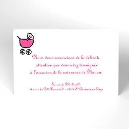 Carte de Remerciement Naissance Gribouille fille grande sœur