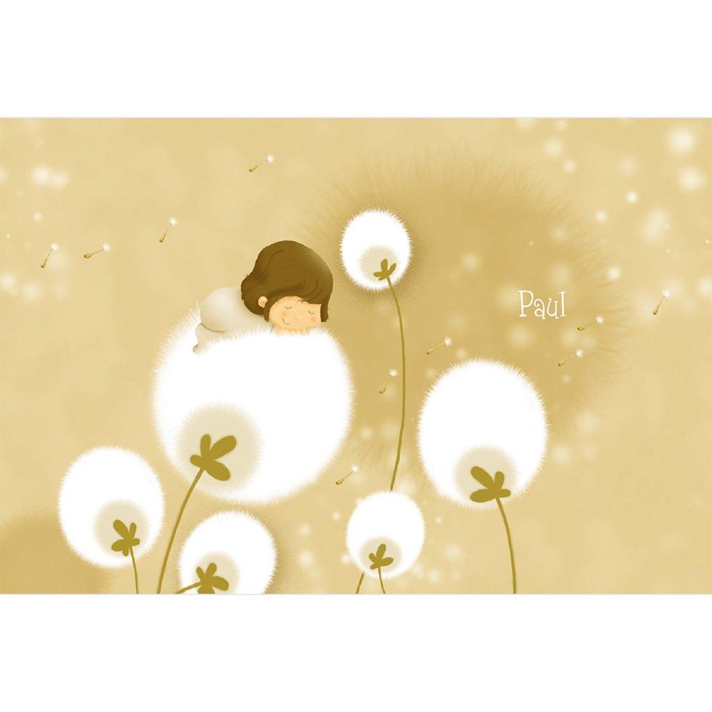 Faire-part de Naissance Fleur de Coton sans photo gratuit