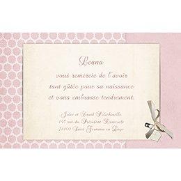 Carte de Remerciement Naissance Macaron rose pas cher
