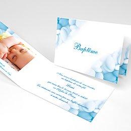 Faire-part de Baptême Dragées bleu