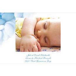 Faire-part de Baptême Dragées bleu gratuit
