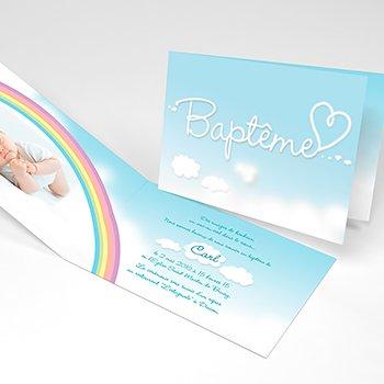Faire-part de Baptême Ciel Baptême Garçon pas cher