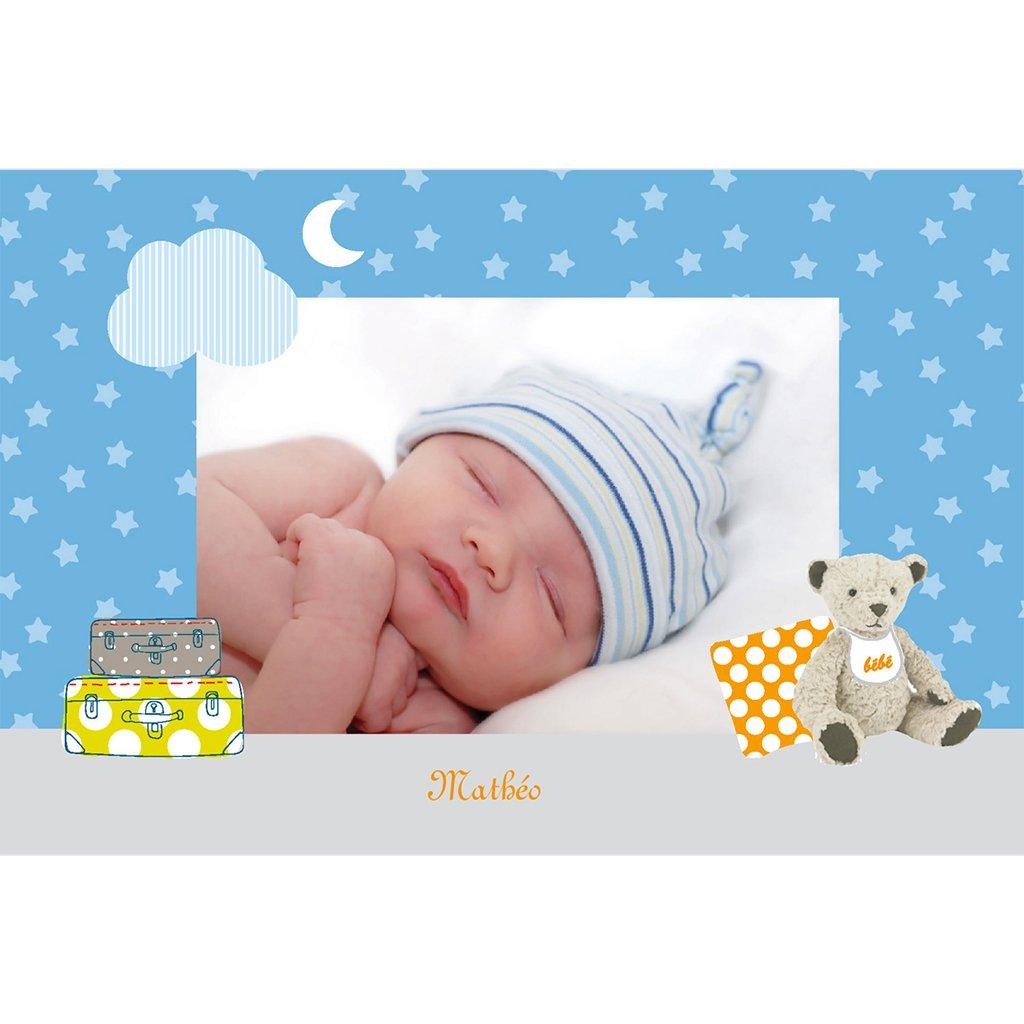 Faire-part de Naissance Baby room bleu gratuit