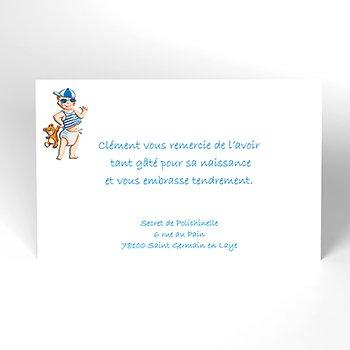 Carte de Remerciement Naissance Graine de star personnalisé