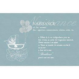 Faire-part de Naissance Petit Versailles Bleu gratuit