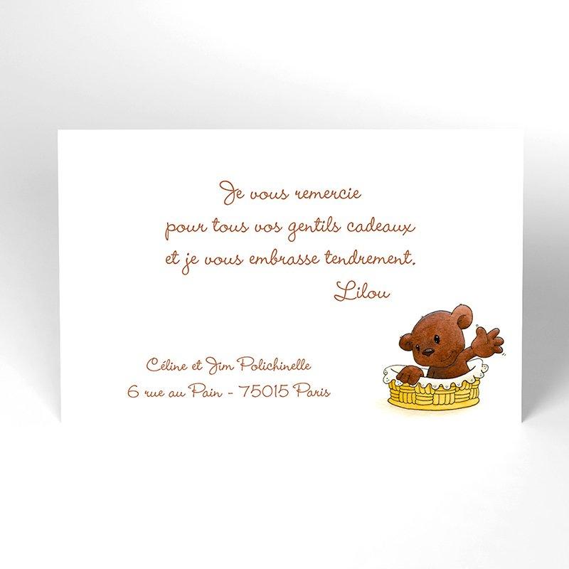 Carte de Remerciement Naissance Baby Love