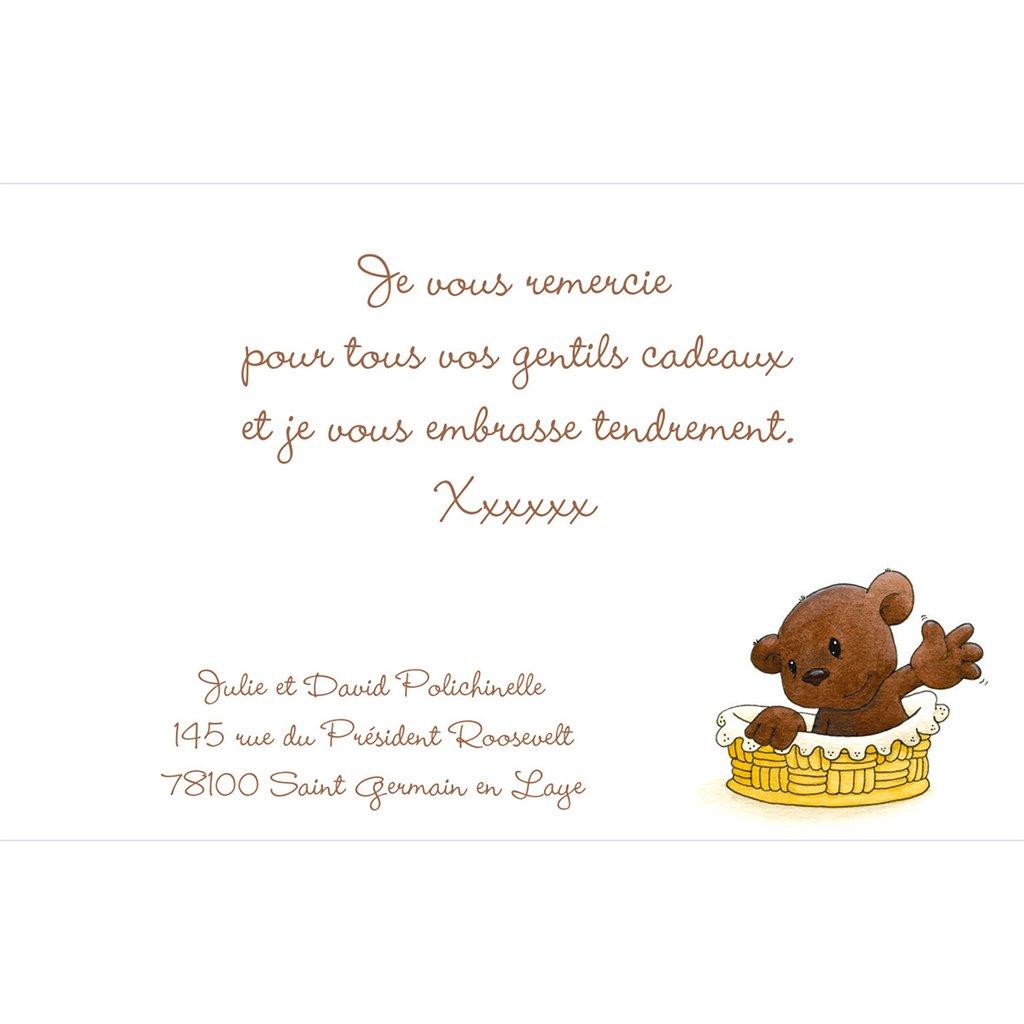 Carte de Remerciement Naissance Baby Love pas cher