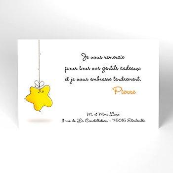 Carte de Remerciement Naissance Douce Nuit