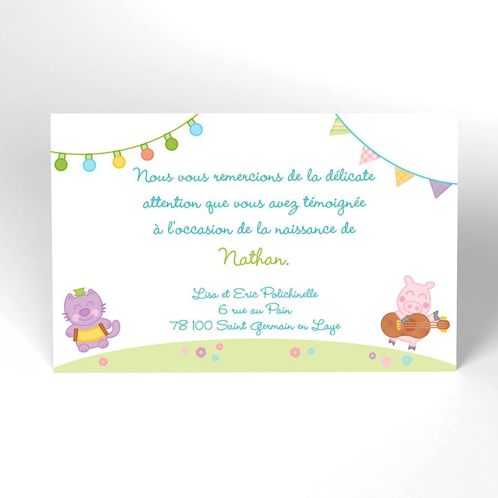 Carte de Remerciement Naissance Happy
