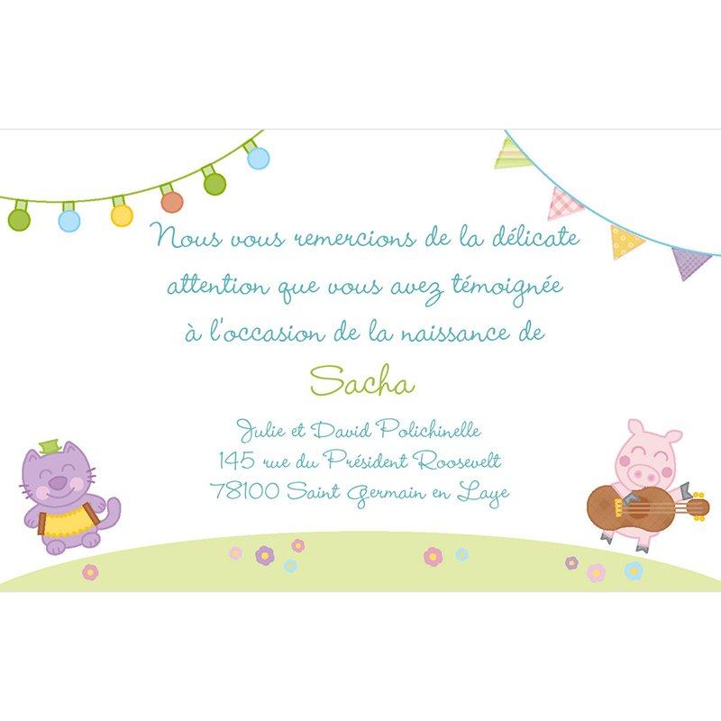 Carte de Remerciement Naissance Happy pas cher