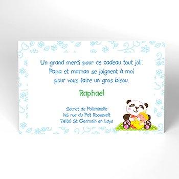 Carte de Remerciement Naissance Au Fil des Mois personnalisé