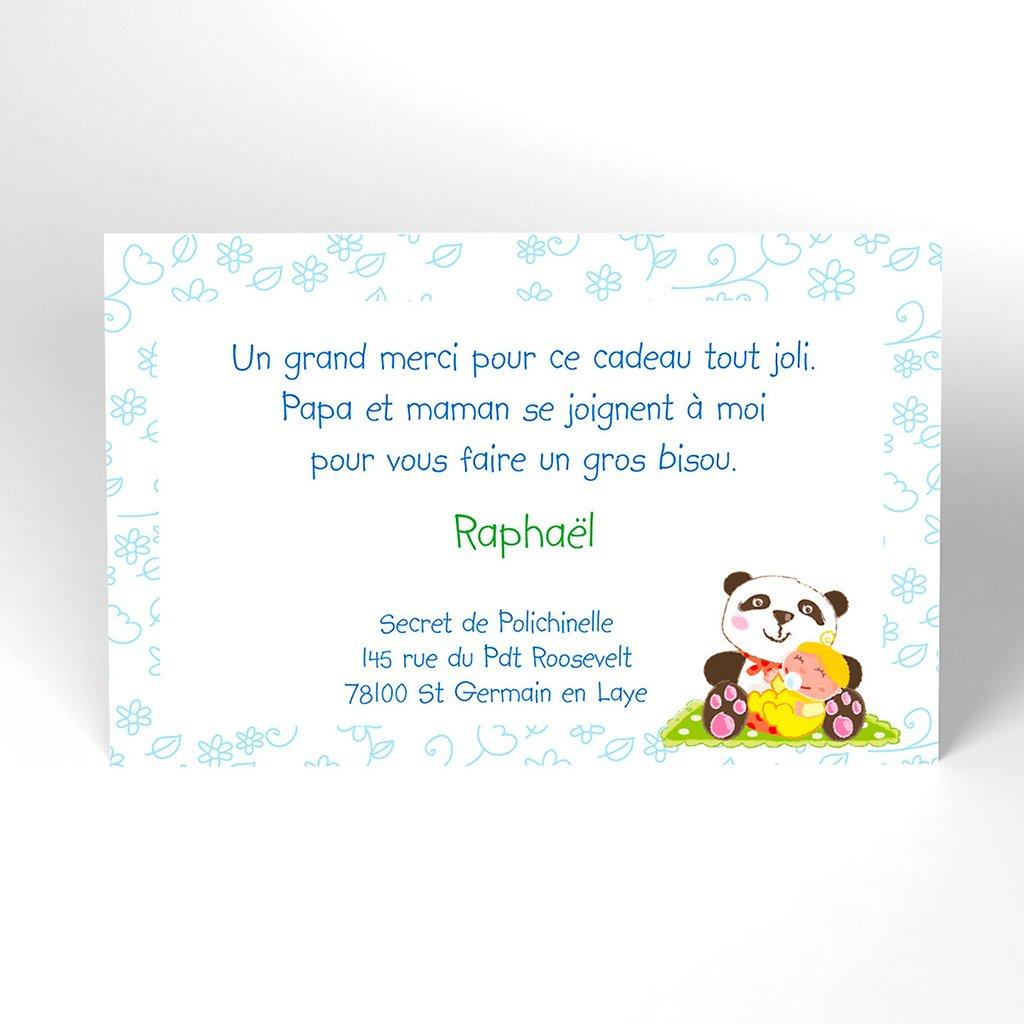 Carte de Remerciement Naissance Au Fil des Mois
