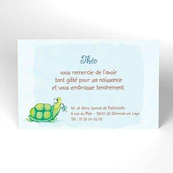 Carte de Remerciement Naissance Kangourou personnalisé
