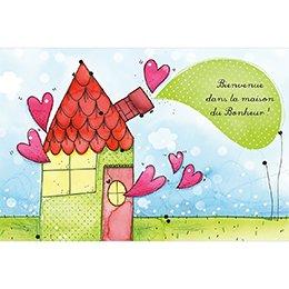 Faire-part de Naissance La Maison du Bonheur gratuit
