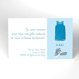 Carte de Remerciement Naissance Bébé Surprise