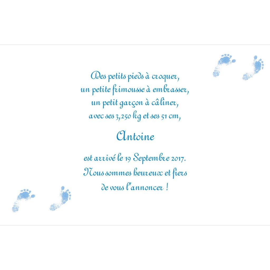 Faire-part de Naissance Bleuet gratuit