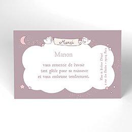 Carte de Remerciement Naissance Poème