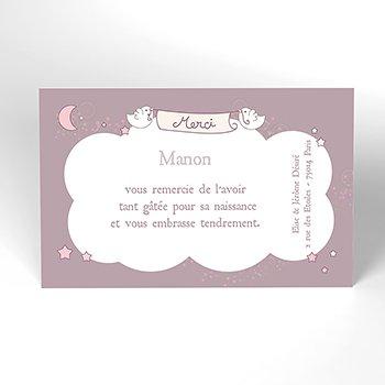 Carte de Remerciement Naissance Poème original